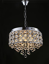 4 Lights-Sunflower K9 Transparent Crystal Chandelier