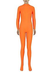 abordables -Disfraces Zentai Ninja Zentai Disfraces de Cosplay Naranja Un Color Leotardo/Pijama Mono Zentai Espándex Licra Unisex Halloween