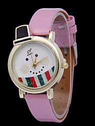 저렴한 -여성용 손목 시계 디지털 뜨거운 판매 고무 밴드 아날로그 참 패션 화이트 / 레드 / 그린 - 그린 핑크 밝은 블루
