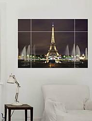 billige -Dekorative Mur Klistermærker - 3D mur klistermærker Landskab / Romantik / Militær Stue / Soveværelse / Badeværelse