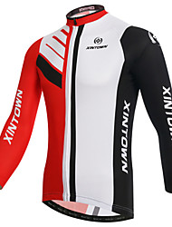 cheap -XINTOWN Men's Long Sleeves Cycling Jersey - White Bike Jersey, Quick Dry, Ultraviolet Resistant, Breathable, Spring Summer