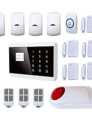 GSM PSTN Burglar Anti Theft Intruder House Security Alarm Systems Sim Card Alarma System Android +Wireless Strobe Siren