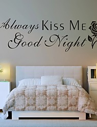AYA™ DIY Wall Stickers Wall Decals,  Kiss Me English Words & Quotes PVC Wall Stickers