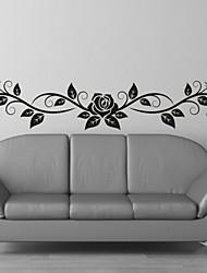 Romance / Moda / Floral Wall Stickers Autocolantes de Aviões para Parede,PVC M:23*100cm / L:35*150cm