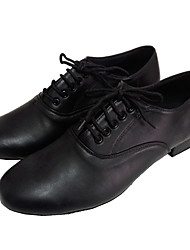 cheap -Men's Ballroom Shoes Leather Upper Latin Dance Shoes for Man Customizable