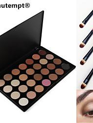 28 Farben rauchigen Eyeshadow / Basisgrundierung / Stiftung / Blusher / Bronzer professionelle kosmetische Palette mit vier Lidschatten