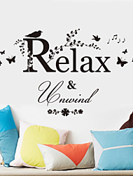 cheap -Still Life Wall Stickers Words & Quotes Wall Stickers Decorative Wall Stickers, Vinyl Home Decoration Wall Decal Wall Decoration