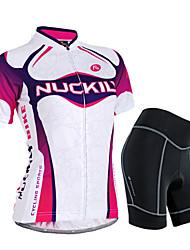 preiswerte -Nuckily Fahrradtriktot mit Fahrradhosen Damen Kurzarm Fahhrad Armlinge Trikot/Radtrikot Shorts/Laufshorts Kleidungs-Sets Wasserdicht