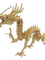 Недорогие -3D пазлы Деревянные пазлы Деревянные игрушки Дракон Дерево Мальчики Девочки Игрушки Подарок