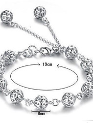 cheap -Women's Chain Bracelet Charm Bracelet Sterling Silver Jewelry Christmas Gifts Wedding Party Daily Casual Costume Jewelry White
