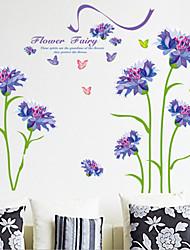 Недорогие -Цветы Наклейки Простые наклейки Декоративные наклейки на стены, Винил Украшение дома Наклейка на стену Стена