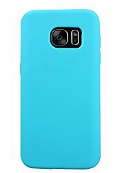 economico -Custodia Per Samsung Galaxy Samsung Galaxy S7 Edge Resistente agli urti Per retro Tinta unita Silicone per S7 / S6