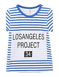 preiswerte -Jungen T-Shirt Baumwolle Sommer Kurzarm Streifen Blau