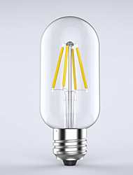 cheap -E26/E27 LED Filament Bulbs T 4 COB 400 lm Warm White 2700 K Waterproof Decorative AC 220-240 V