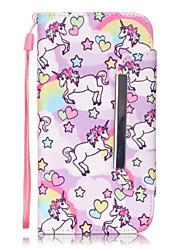 economico -Custodia Per Samsung Galaxy Samsung Galaxy S7 Edge A portafoglio / Porta-carte di credito / Con supporto Integrale Cartoni animati pelle sintetica per S7 edge / S7 / S6 edge plus