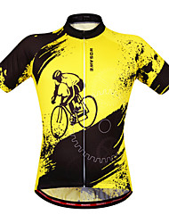 WOSAWE Cycling Jersey Women's Unisex Short Sleeves Bike Sweatshirt Jersey Tops Quick Dry Anatomic Design Moisture Permeability Breathable