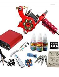 jh552 máquina kit de tatuaje con tinta basekey apretones de alimentación 10ml