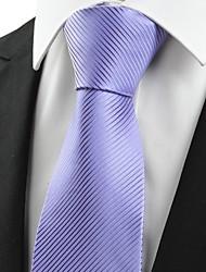 новый полосатый лавандовый фиолетовый уникальный мужской галстук галстук свадебный подарок подарок