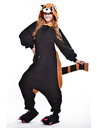 Kigurumi Pajamas New Cosplay® Bear Raccoon Leotard/Onesie Festival/Holiday Animal Sleepwear Halloween Black Patchwork Polar Fleece