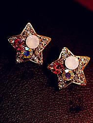 preiswerte -Tropfen-Ohrringe Aleación Strass Imitation Diamant Sternenform Golden Schmuck Alltag 1 Paar