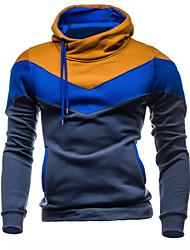 preiswerte -Herrn Einfarbig Sport Freizeit Kapuzenshirt Standard Langärmelige Winter Herbst Baumwolle Polyester