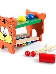 Недорогие -многофункциональные деревянные игрушки для детей дошкольного, чтобы выбить мяч, играя музыку на челеста