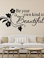 cheap -Wall Stickers Wall Decals, New Arrival Be your kind of Beautiful PVC Wall Sticker