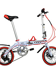 cheap -Folding Bike Kids' Bike Cycling 6 Speed 14 Inch SHIMANO Double Disc Brake Ordinary Aluminium Alloy Frame Folding Aluminium Alloy