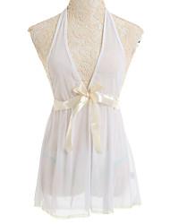 Žene Babydoll / slip haljina Noćno rubljeMrežica Bijela