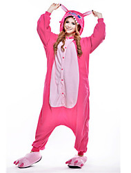 cheap -Kigurumi Pajamas Blue Monster Onesie Pajamas Costume Polar Fleece Pink Cosplay For Adults' Animal Sleepwear Cartoon Halloween Festival /