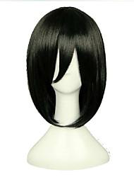 economico -Donna Parrucche sintetiche Senza tappo Pantaloncini Lisci Nero parrucca nera costumi parrucche