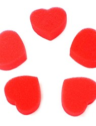 cheap -Love Magic Props Sponge Heart Red 5PCS