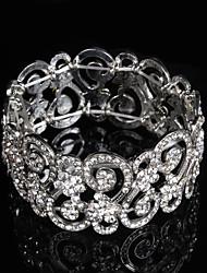 chaîne pour femme / bracelets ronds bracelet alliage strass style élégant