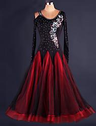 povoljno -Klasični plesovi Haljine Žene Seksi blagdanski kostimi Spandex Drapirano Haljina