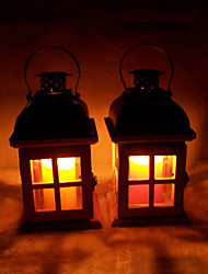 cheap -Valentine'S Day Creative Wedding Romantic Storm Lantern Europe Type Restoring Ancient Ways Wooden Candlesticks