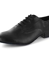 Scarpe da ballo-Personalizzabile-Da uomo-Balli latino-americani / Sneakers da danza moderna / Moderno / Salsa-Piatto-Finta pelle-Nero