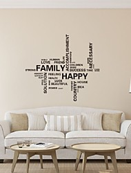 Family Vinyl Wall Decal Happy Family Work Quote Home Lettering Words Mural Art Wall Sticker Bedroom Decorative