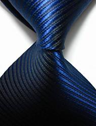Men's Party/Evening Striped Royal JACQUARD WOVEN Necktie Necktie