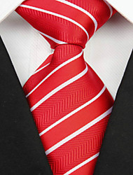 preiswerte -Krawatte(Rot,Polyester)Gestreift