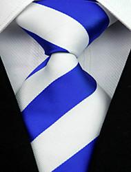 Cravate(Bleu / Blanc,Polyester)Rayé