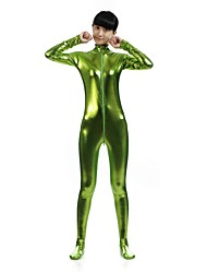 """Недорогие -Костюмы на все тело """"зентай"""" Ниндзя Косплэй костюмы Пол Зеленый Однотонный Спандекс Блестящий металл Муж. Жен. Рождество Хэллоуин / Эластичность"""