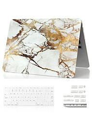"""Недорогие -3 в 1 мрамор полное тело корпус + крышка клавиатуры + Dust Разъем для Macbook Air 11 """"сетчатка 13"""" / 15 """""""