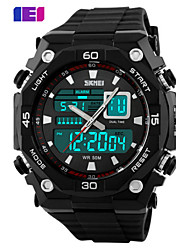 cheap -SKMEI Men's Sport Watch Calendar / date / day / Water Resistant / Water Proof Silicone Band Charm Black