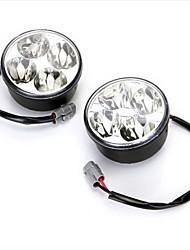 Недорогие -2x 4W высокой мощности белый 4 водить автомобиль DRL в дневное время дневного света тумана работает лампа