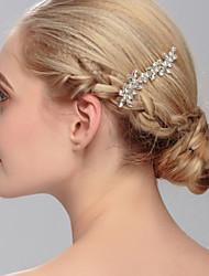 Penteado de cabelo de cristal, festa de casamento, estilo feminino elegante