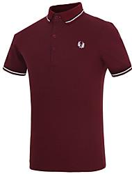 cheap -Men's Daily Formal Polo,Print Short Sleeves Cotton