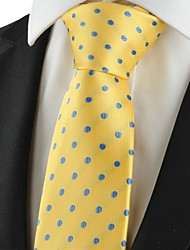 cheap -Polka Dot Blue Golden Classic Mens Tie Suits Necktie Wedding Holiday Gift KT1046