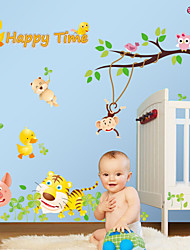 cheap -Wall Stickers Wall Decals Style Owl Animal Park PVC Wall Stickers