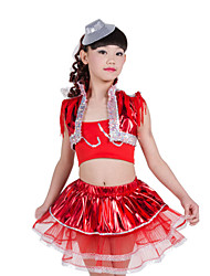Shall We Jazz Children Performance Spandex Sequins Tassel(s) 3 Pieces Outfits