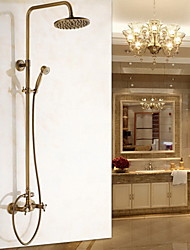 cheap -Shower Faucet - Antique Antique Brass Wall Mounted Ceramic Valve